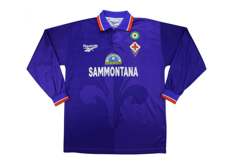 Reebok 1996 97 Fiorentina Match Issue Home Shirt