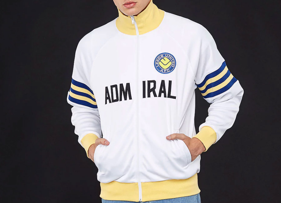 Score Draw Admiral Leeds United 1978 Track Jacket - White / Blue