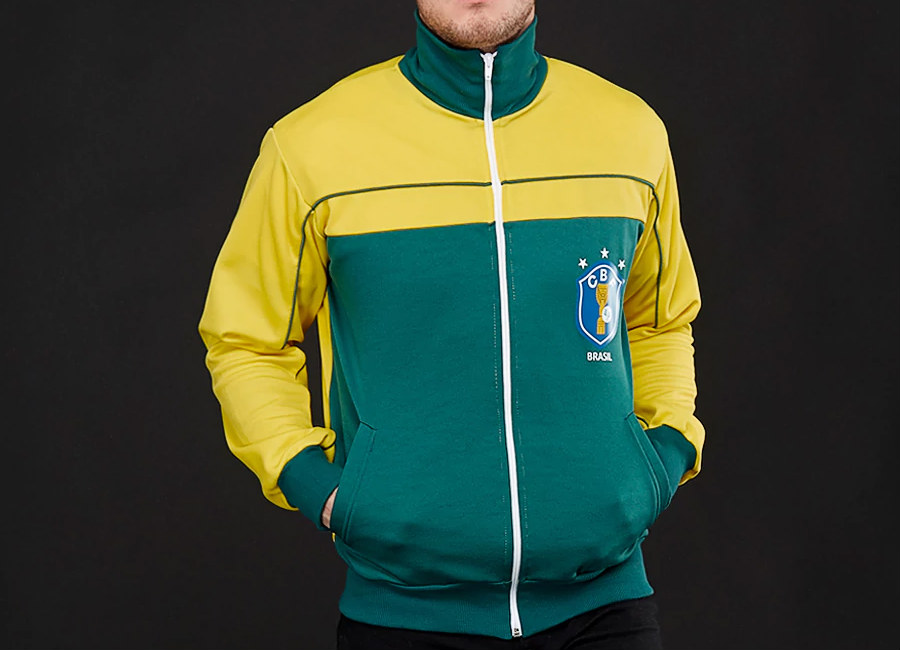 Score Draw Brasil 1986 World Cup Finals Track Jacket - Yellow / Green