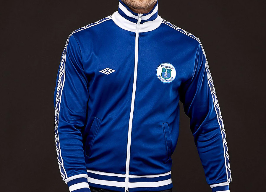 Score Draw Umbro Everton 1980 Retro Track Jacket - Blue / White