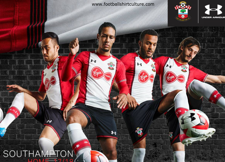 Southampton 2017-18 Under Armour Home Kit