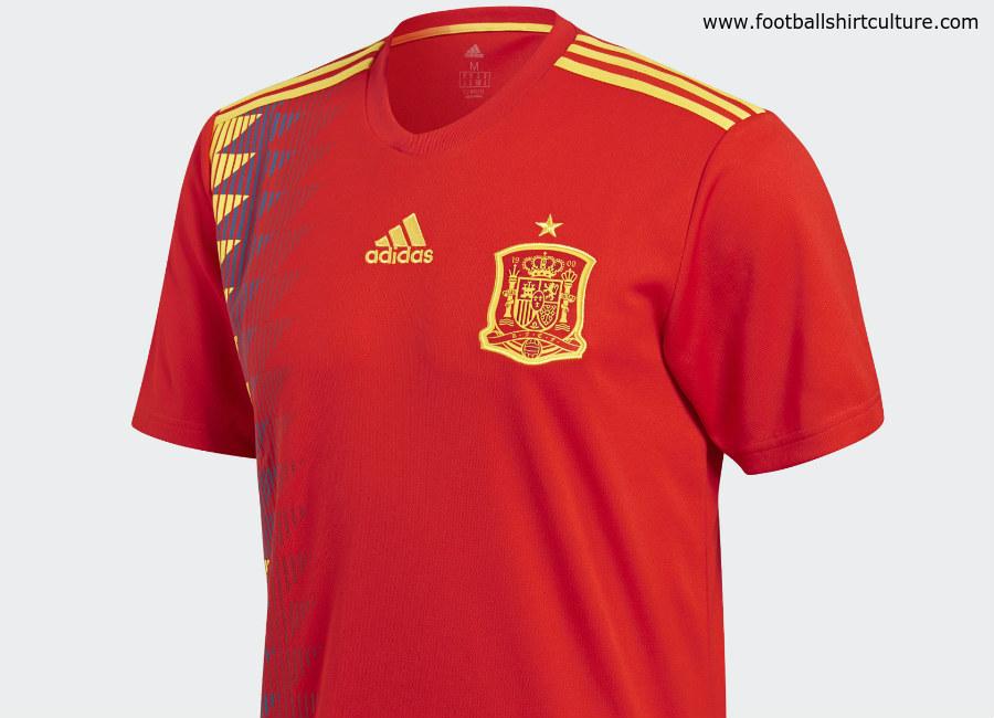 3b425b1f56b Spain 2018 World Cup Adidas Home Kit | 17/18 Kits | Football shirt blog