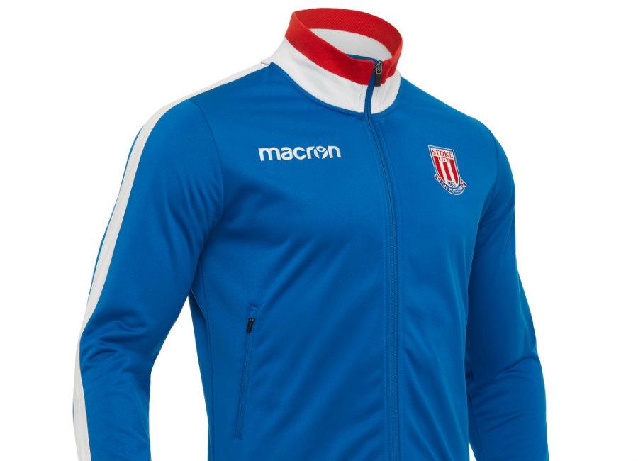 Stoke City 2017 18 Macron Anthem Jacket Blue White