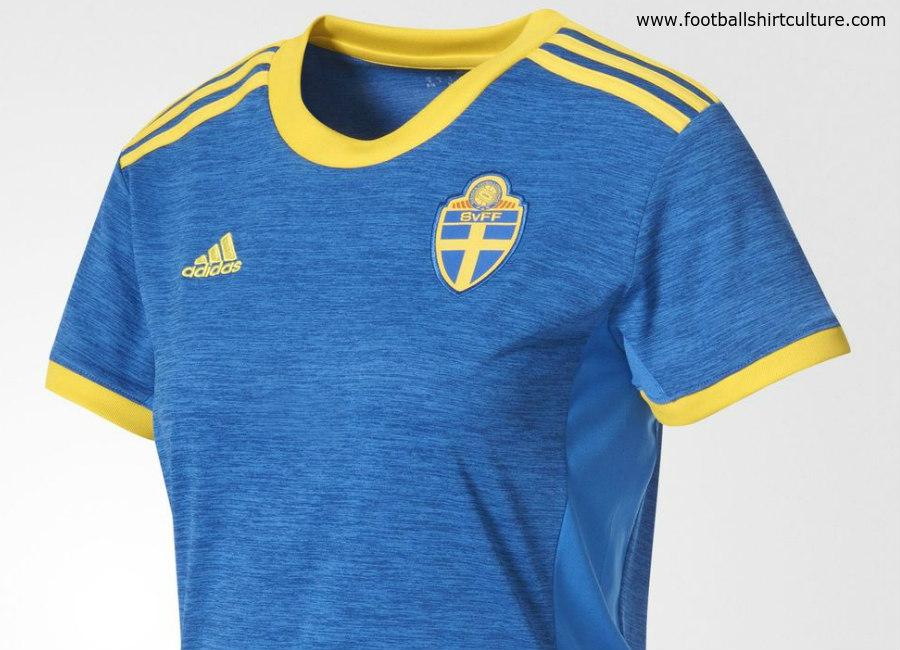 Sweden Adidas Away Women's Euro 2017 Kit   17/18 Kits   Football shirt blog