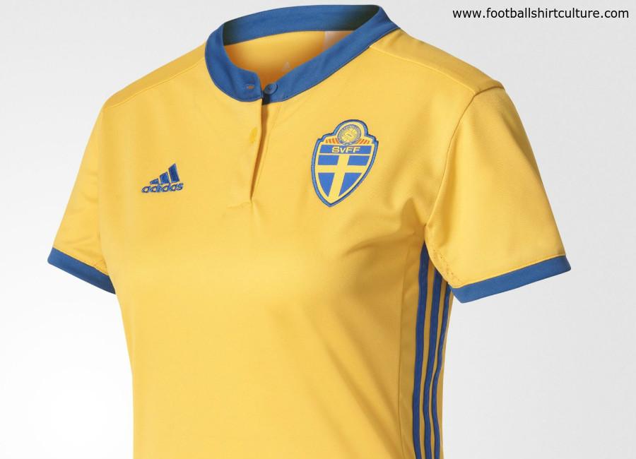 Sweden Adidas Home Women S Euro 2017 Kit 17 18 Kits Football