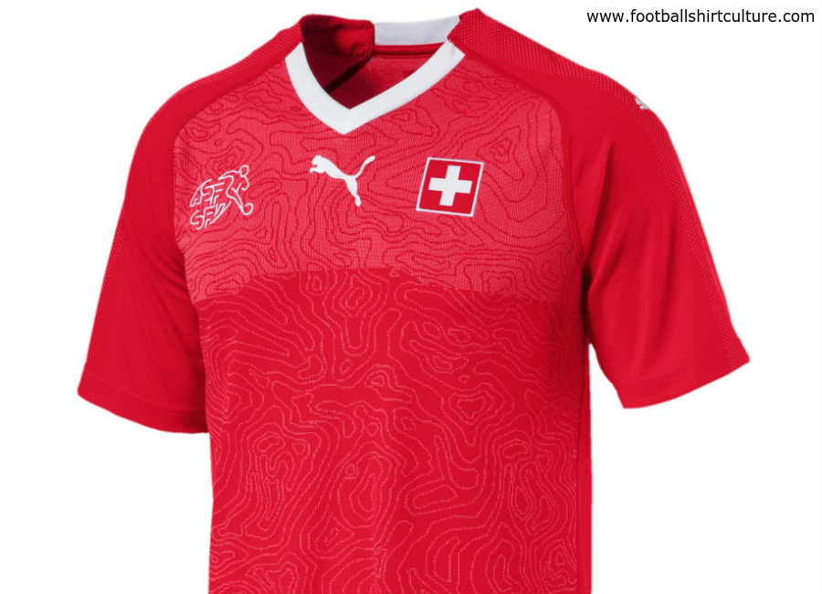 Switzerland 2018 World Cup Puma Home Kit