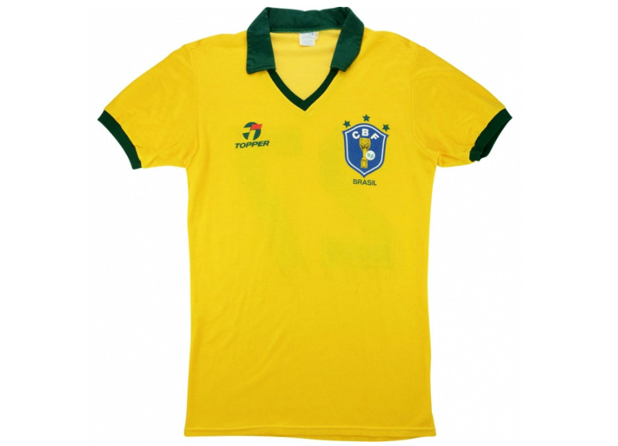 Topper 1986 Brazil Match Issue Home Shirt V Finland