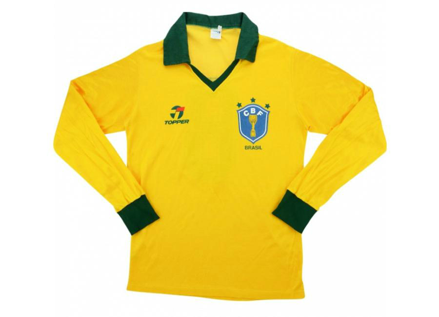 Topper 1987 Brazil Match Worn Home Shirt Paulo Silas