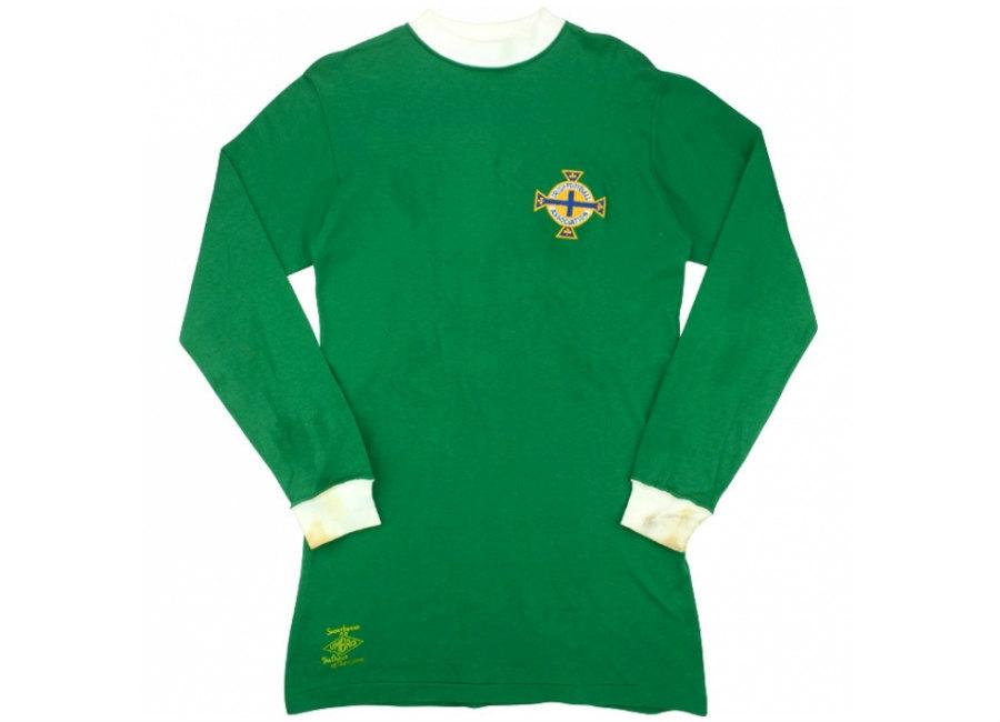 a00c9ec8d2 Umbro 1971 Northern Ireland Match Worn Home Shirt | Vintage Football ...