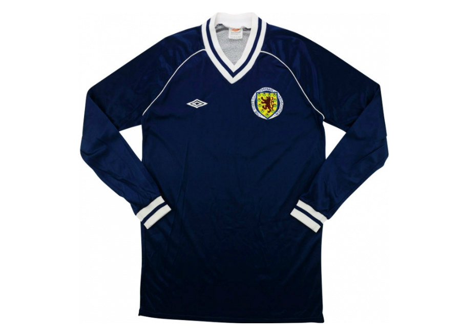 Umbro 1982 Scotland U 21 Match Issue Home Shirt Gillespie