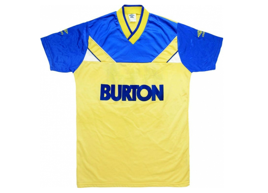 Umbro 1986 88 Leeds United Match Issue Away Shirt