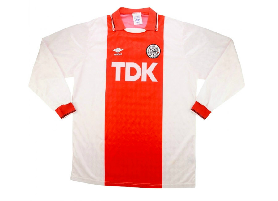 Umbro 1990 91 Ajax Match Issue Home Shirt Jonk