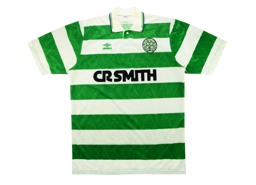 Umbro 1990 91 Celtic Match Issue Home Shirt Hayes