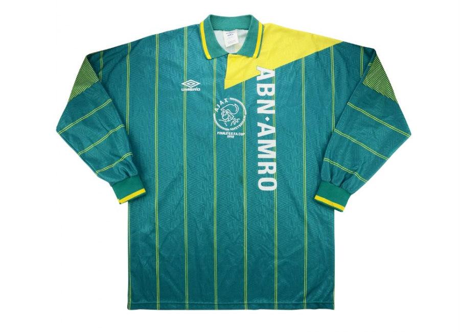 15069aa620e Umbro 1992 Ajax Match Issue UEFA Cup Final Away Shirt