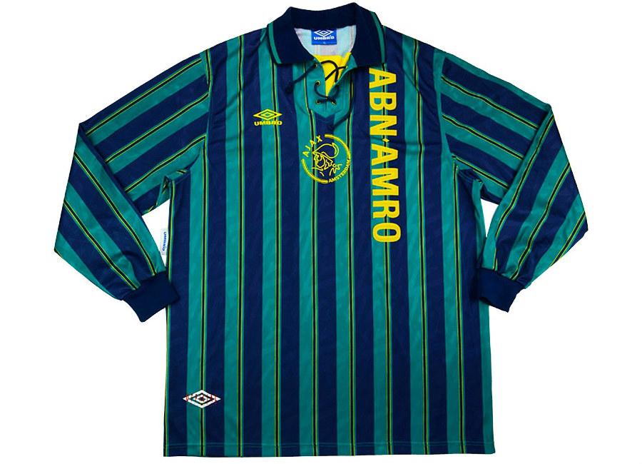 01d5fd06942 Umbro 1993-94 Ajax Match Issue Away Shirt | Vintage Football Shirts ...