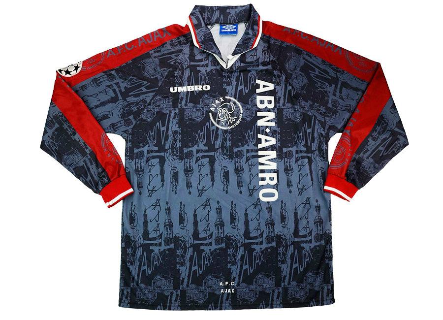 1fd2957f009 Umbro 1996-97 Ajax Match Issue Champions League Away Shirt | Vintage  Football Shirts | Football shirt blog