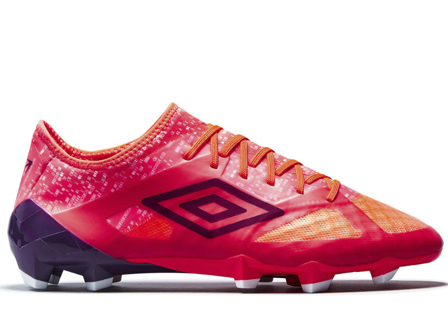 Umbro Velocita 3 Pro Hg Fiery Coral Winter Bloom White