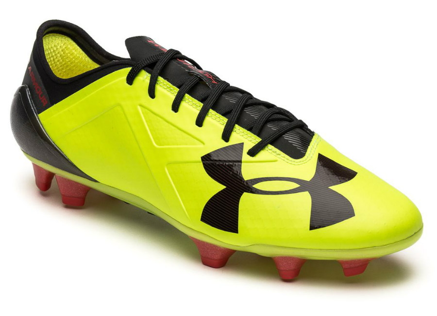 Under Armour Spotlight FG - High Vis Yellow   Rocket Red   Black ... b327116bc0f0