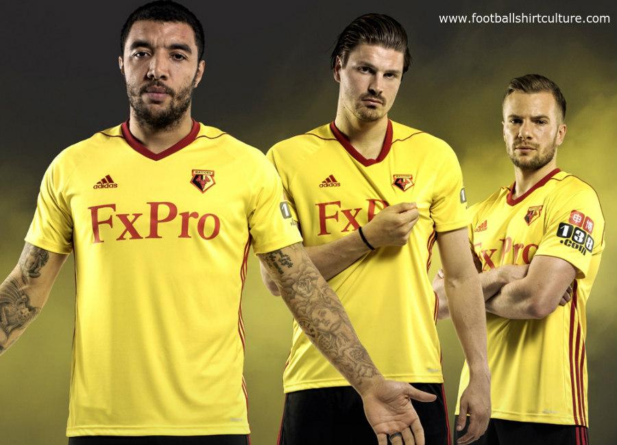 94a8ce63638 Watford 2017 18 Adidas Home Kit