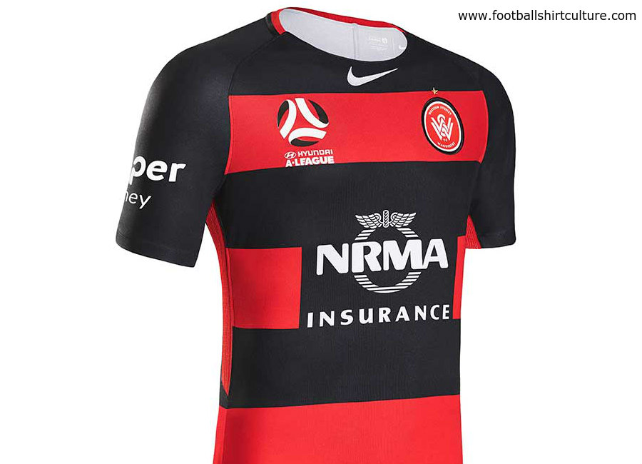 a851ae60 Western Sydney Wanderers 17/18 Nike Home Kit   17/18 Kits   Football ...