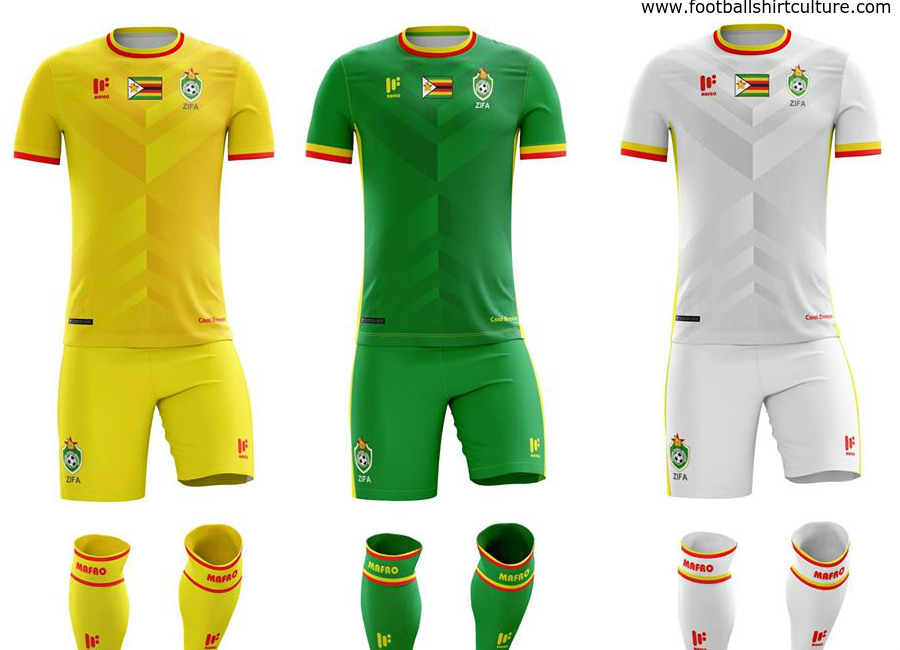 Zimbabwe 2017 Mafro Sports Afcon Kits