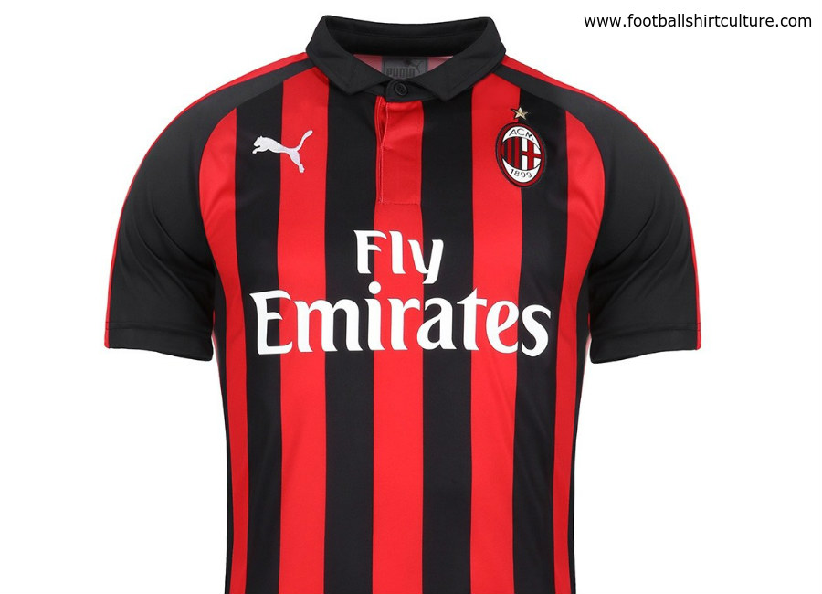 850d9dbf3 AC Milan 2018-19 Puma Home Kit