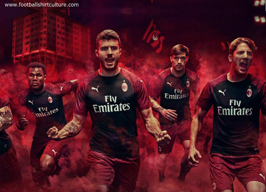 online store fc139 94aa0 AC Milan 2018-19 Puma Third Kit | 18/19 Kits | Football ...