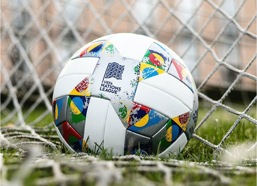 Adidas 2018-19 UEFA Nations League Match Ball - White / Silver Metallic / Multicolor