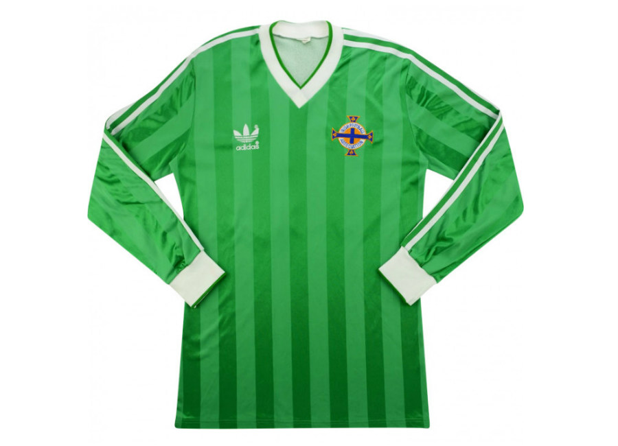 Adidas 1984 Northern Ireland Match Issue Home Shirt