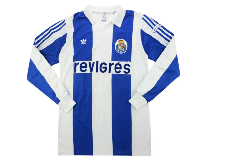 Adidas 1987-88 Porto Match Worn Super Cup Home Shirt