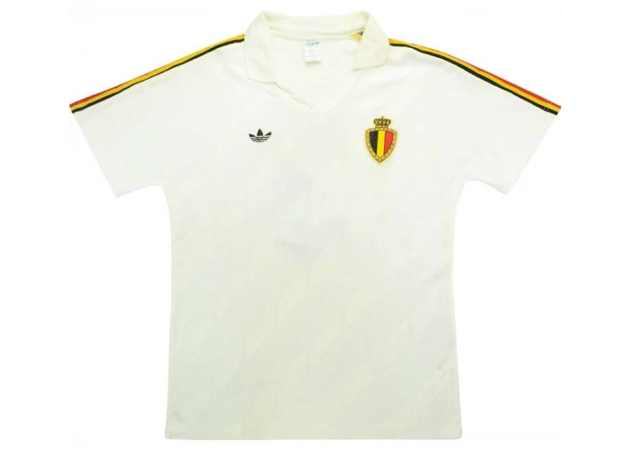 Adidas 1987 Belgium Match Worn Away Shirt