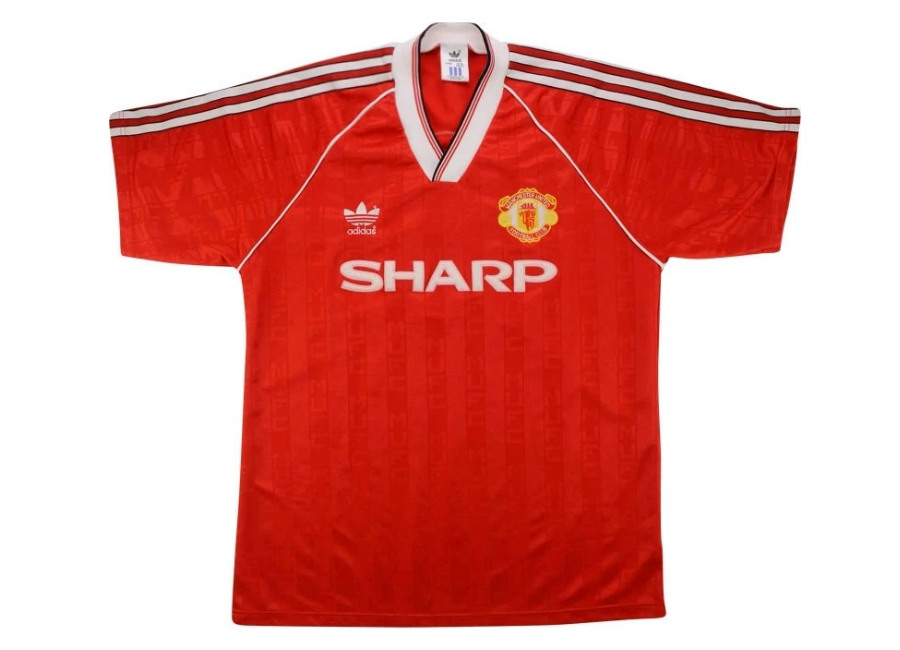 Adidas 1988-90 Manchester United Match Issue Home Shirt