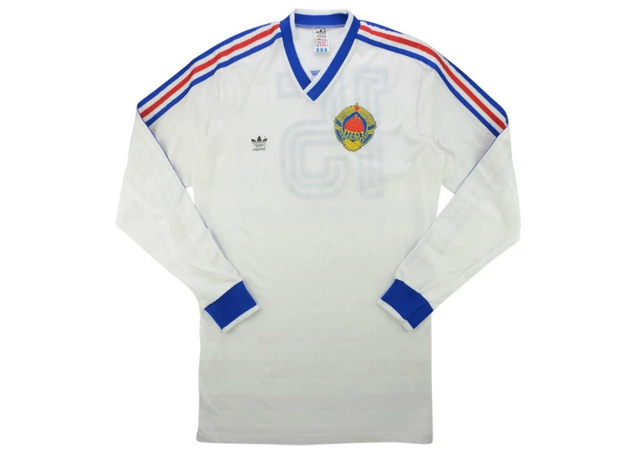 Adidas 1988 Yugoslavia Match Worn Away Shirt
