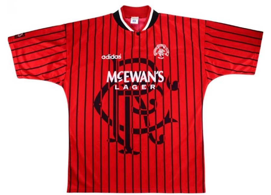 Adidas 1994-95 Rangers Match Issue Away Shirt