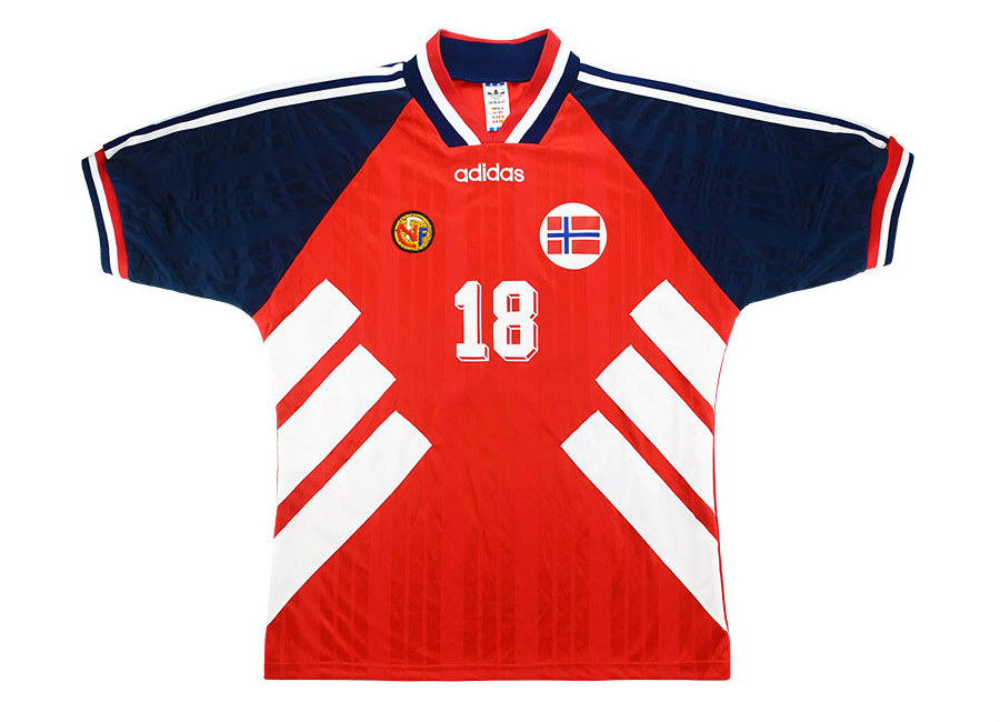 Adidas 1994 Norway Match Issue World Cup Home Shirt