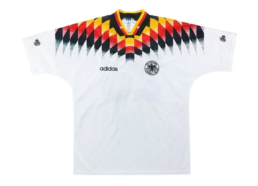 Adidas 1995 Germany Match Issue Home Shirt