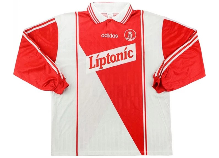 Adidas 1996-97 Monaco Match Issue UEFA Cup Home Shirt