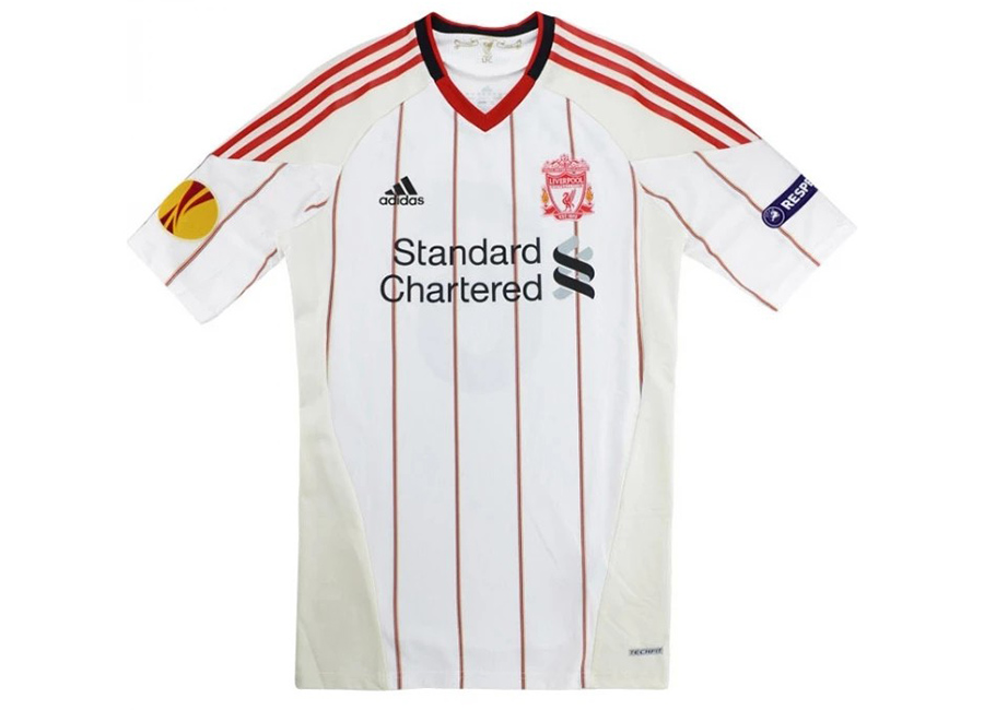 Adidas 2010-11 Liverpool Match Issue Away Europa League Shirt