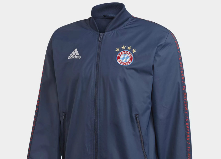 Adidas Bayern Munich 2018-19 Anthem Jacket - Collegiate Navy