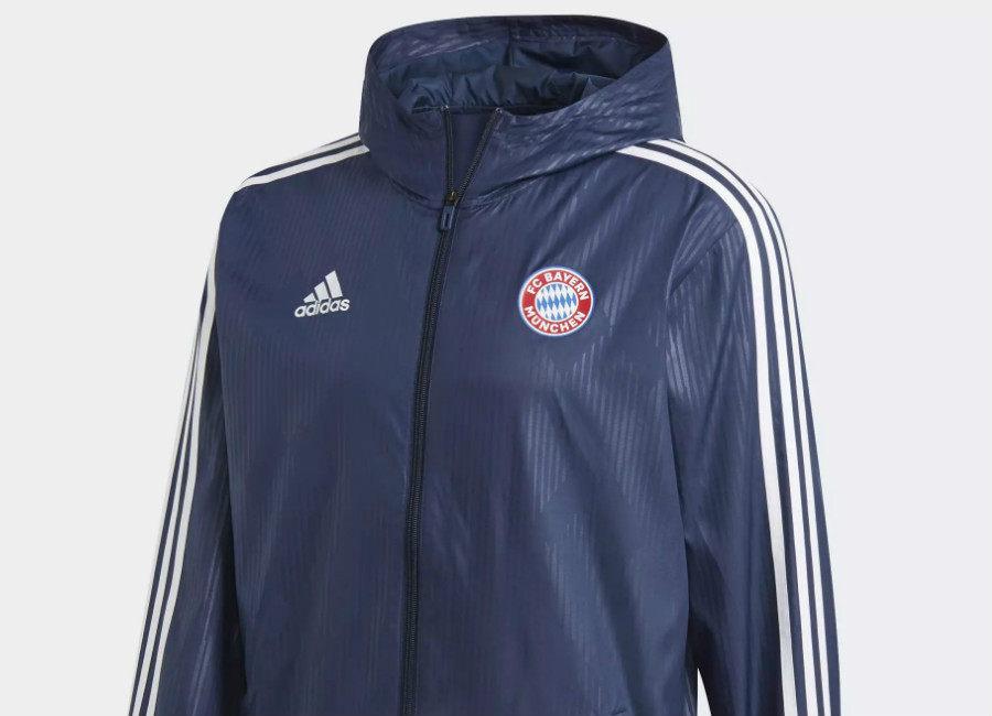 Adidas Bayern Munich Windbreaker - Collegiate Navy / White