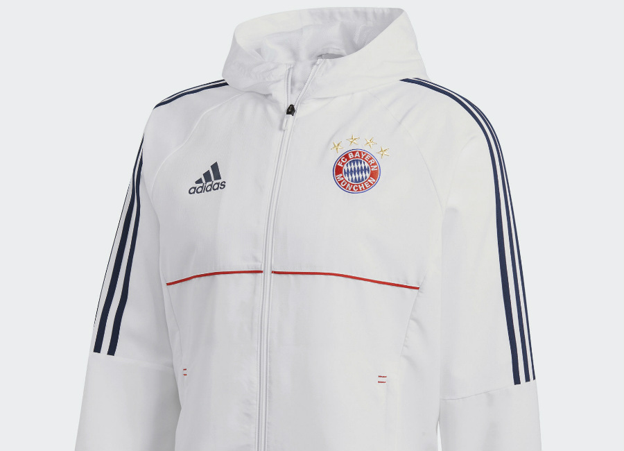 Adidas FC Bayern Munich Presentation Jacket - White / Collegiate Navy