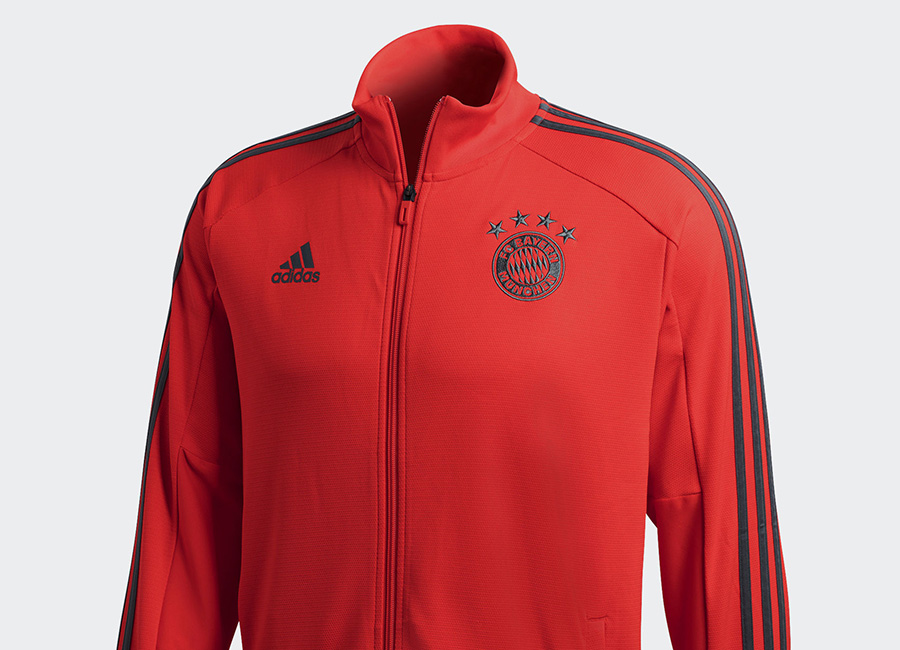 Adidas FC Bayern Training Jacket - Red / Utility Ivy