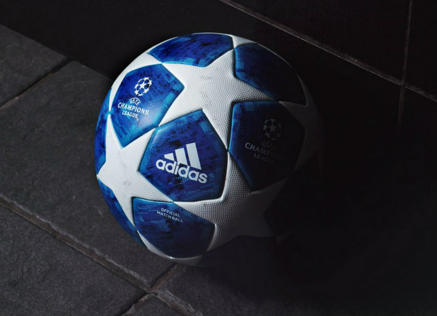 Adidas Finale 18 UCL Official Match Ball - White / Football Blue / Bright Cyan / Collegiate Royal