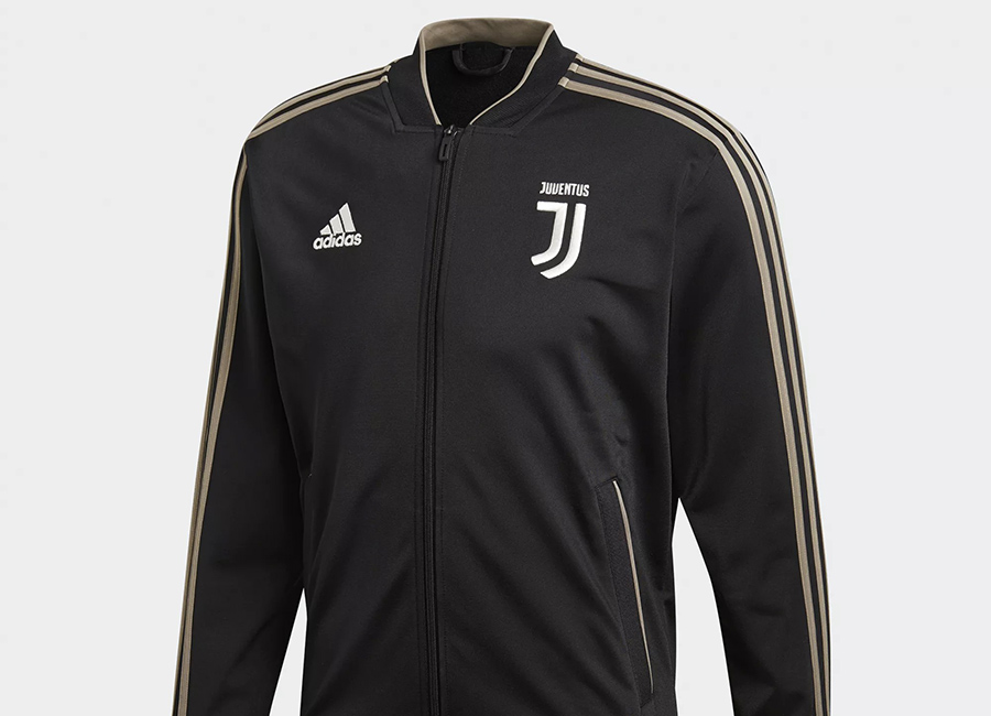 db451f2f1d9 Adidas Juventus 18 19 Polyester Jacket - Black   Clay
