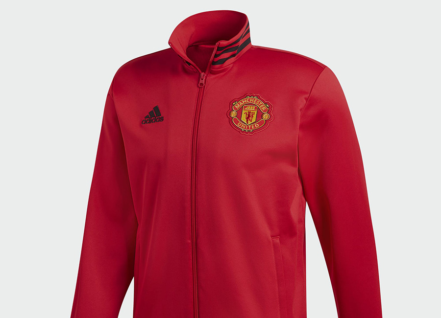 Adidas Manchester United 3-Stripes Track Jacket - Real Red / Black