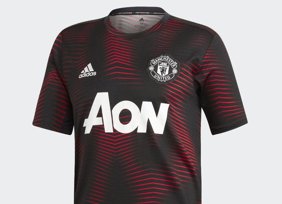 Adidas Manchester United Home Pre-Match Jersey - Black / Real Red