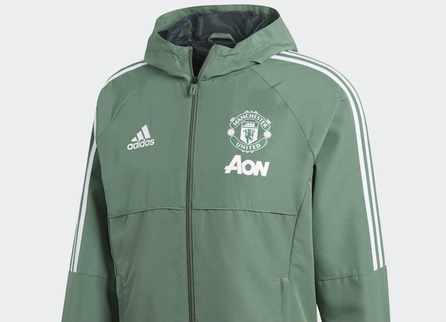 Adidas Manchester United Presentation Jacket - Trace Green / White
