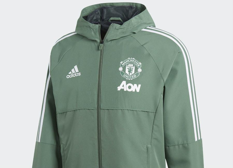 Adidas Manchester United Presentation Jacket Trace Green White