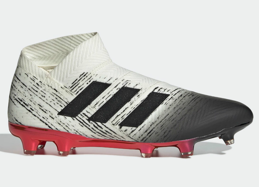 17ef38b86b0e Adidas Nemeziz 18+ Agility FG Initiator - Off White / Core Black / Active  Red