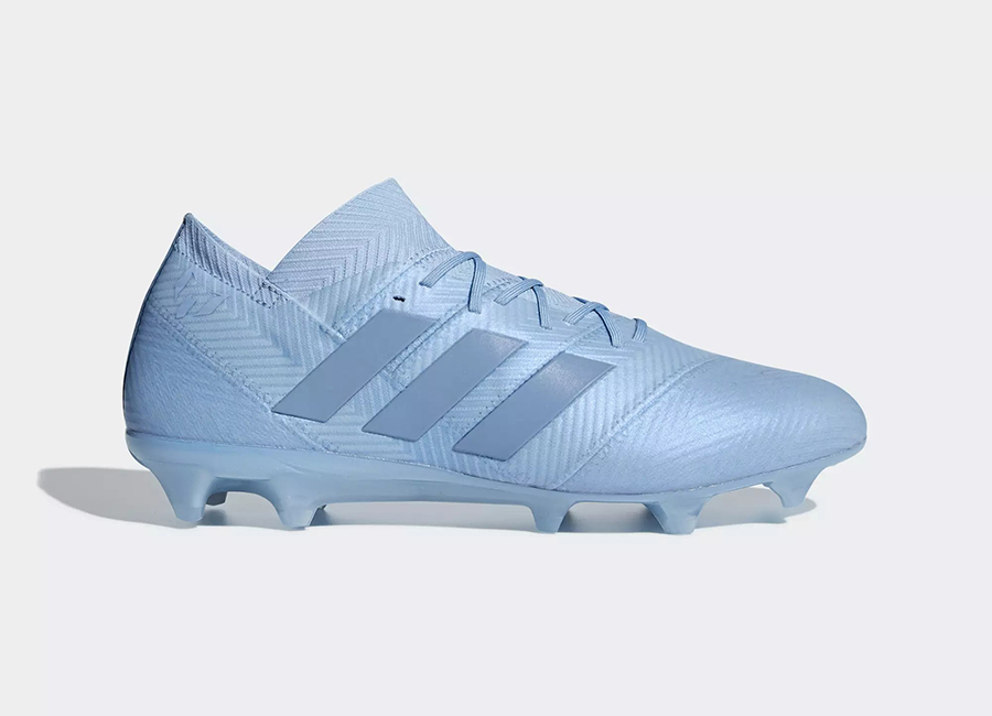 Adidas Nemeziz Messi 18.1 Firm Ground Boots Spectral Mode - Ash Blue / Ash Blue / Gold Met